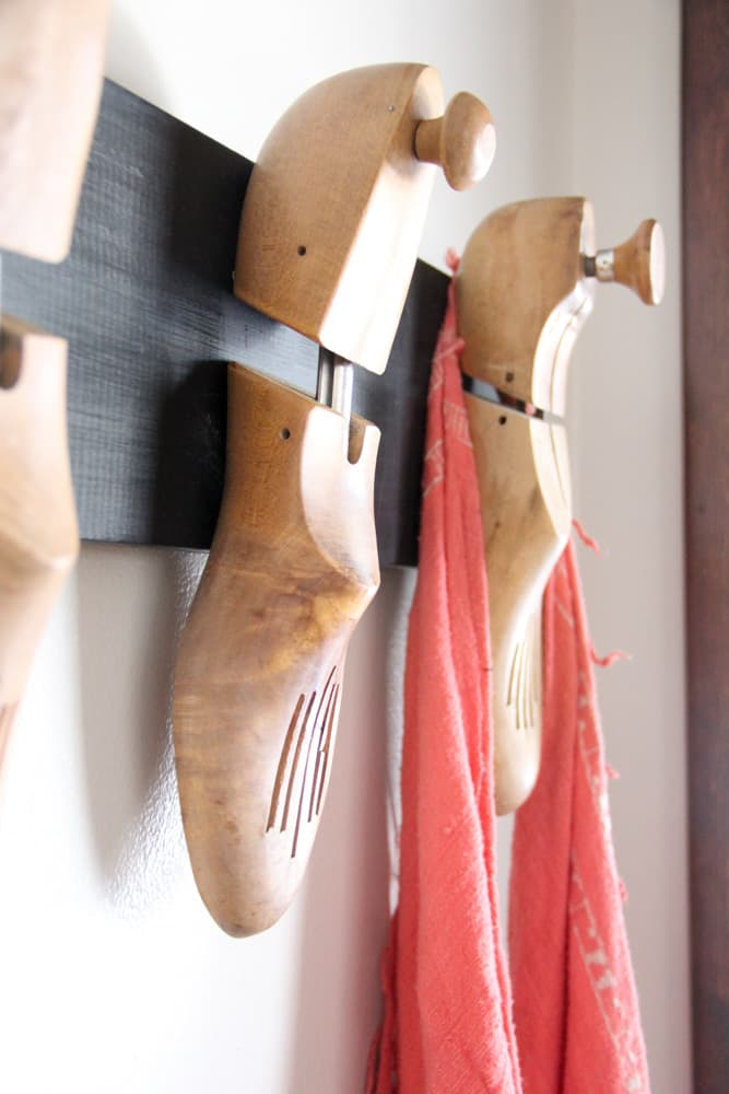Shoe Stretchers into Coat Hook