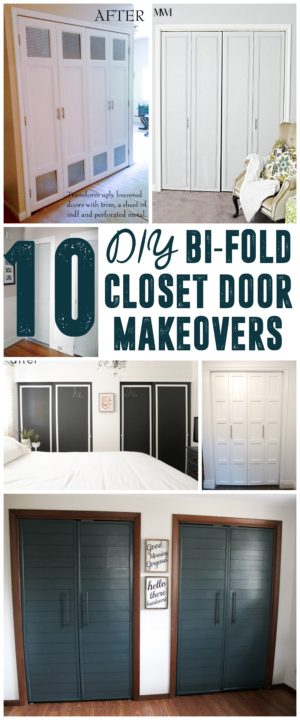 DIY Bi-Fold Closet Door Makeovers