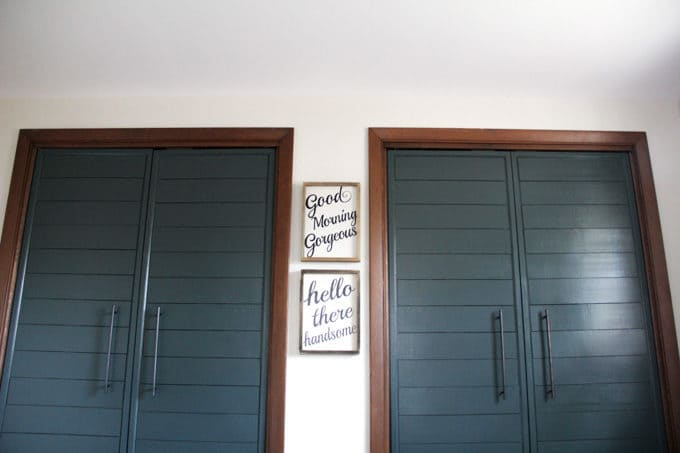 Twin French Doors on Closets