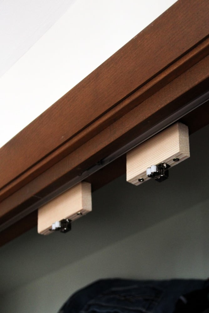 Stoppers for French Doors in Closet
