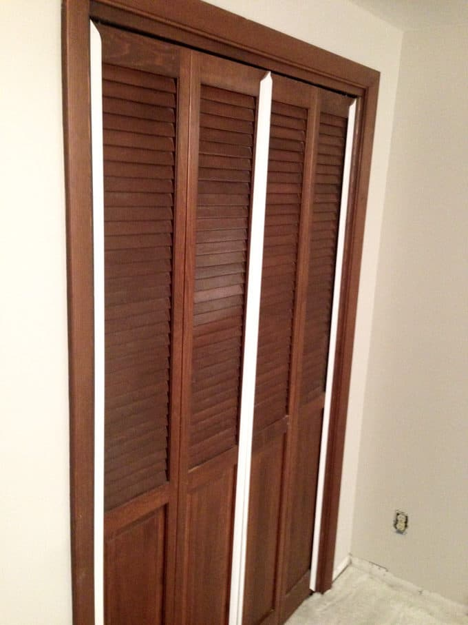 Bi Fold To Faux Shiplap French Closet Doors Bright Green