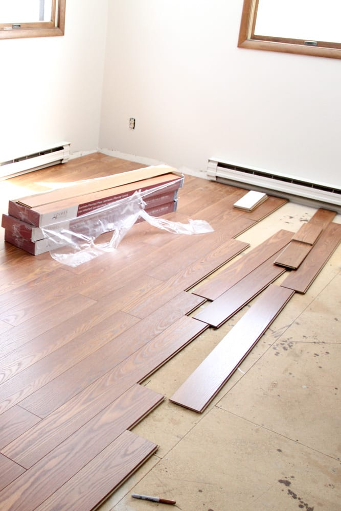 Lumber Liquidators Installing Butterscotch Oak Laminate