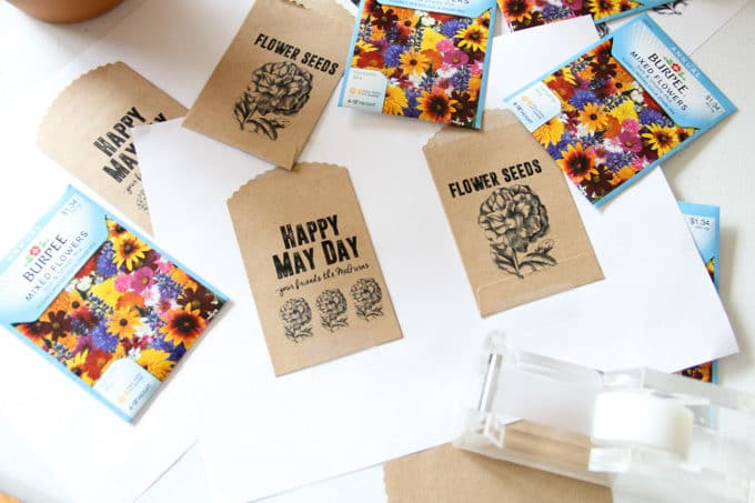 Printable Seed Packets for May Day