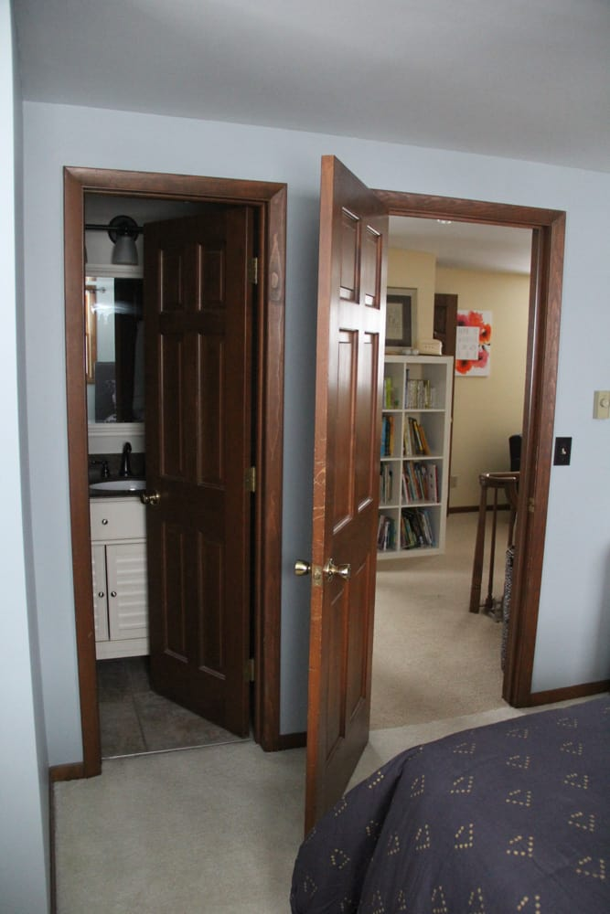 Wood Doors in Modern Room