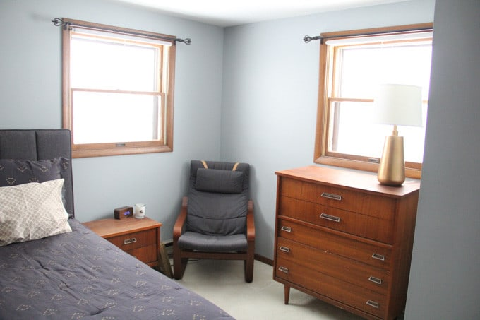 Bedroom with Mid Century Furniture