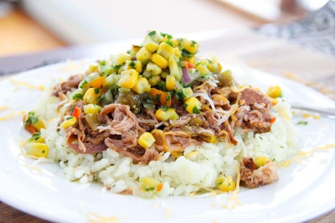Mexican Pork over rice