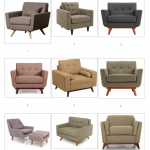 Modern Upholstered Armchairs