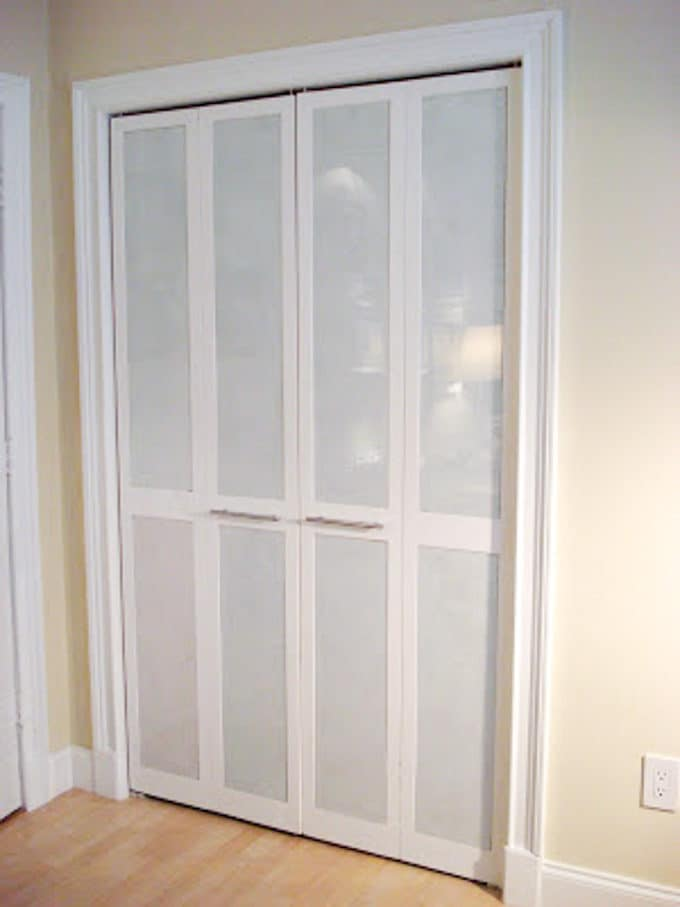 Marvelous Makeover Louvered Closet Doors