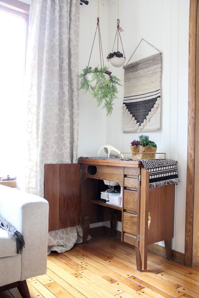 Mid Century Sewing Table