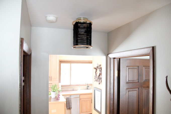 Wood Hoop Light Fixture