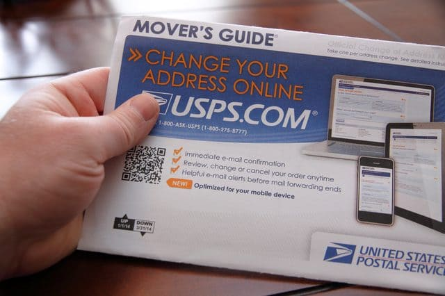 Moving Tips Change of Address Packet