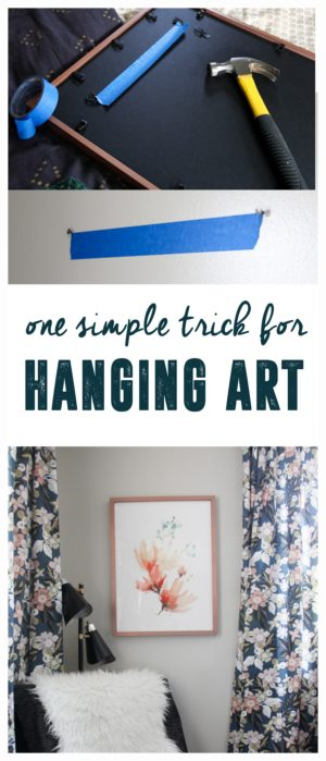 Simple Tip for Hanging Art