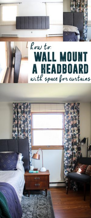 How to Mount a Headboard with Space for Curtains