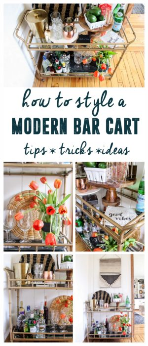 how to style a modern bar cart