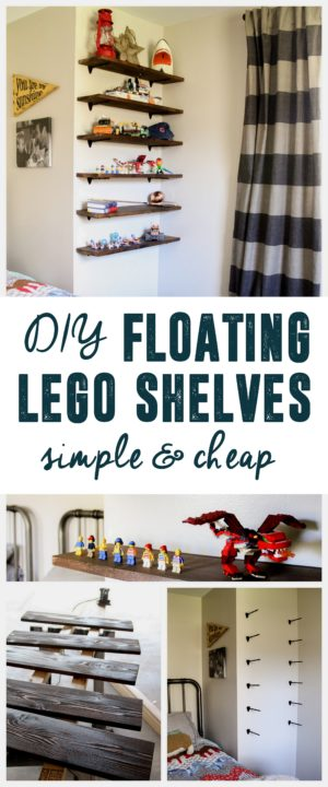 DIY Floating Lego Shelves