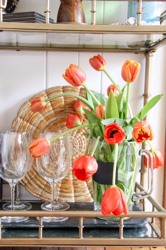 Flowers in a Beer Pitcher