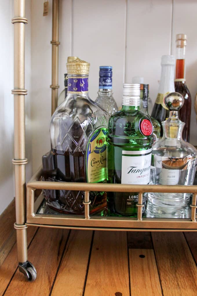 Alcohol for a Bar Cart