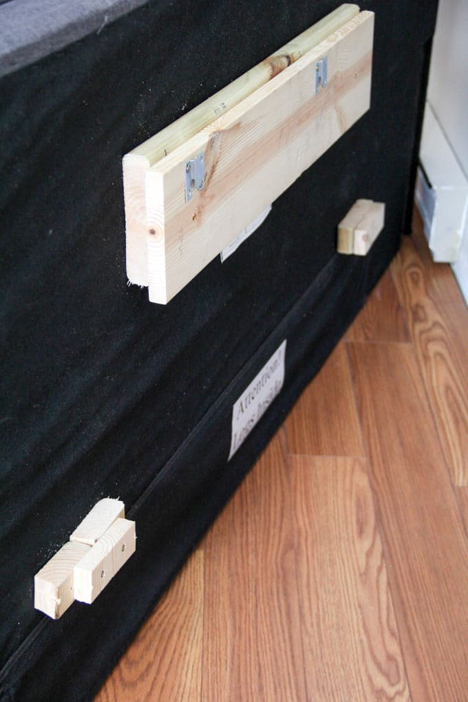 How to attach a headboard to the wall with spacers
