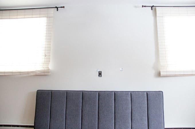 How to Mount a Headboard in front of windows