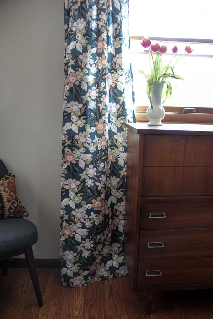 Modern Dark Floral Curtains from Minted
