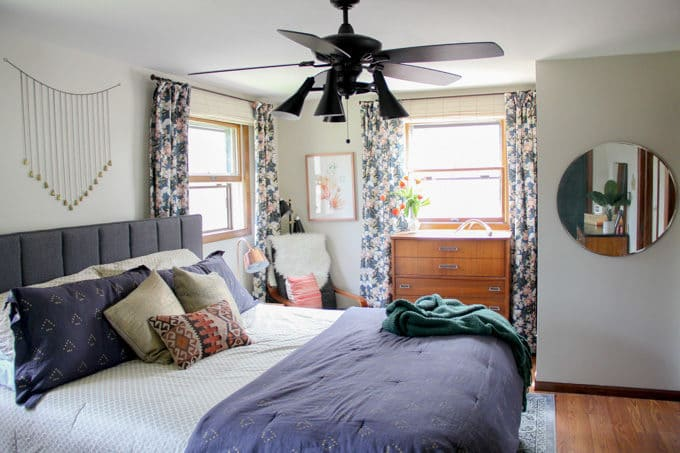 Modern Master Bedroom with Ceiling Fan