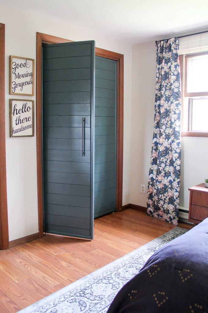 Bi-fold to french closet doors