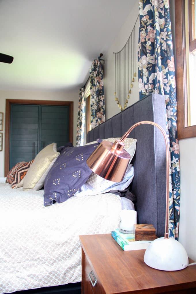 Curtains Behind Headboard