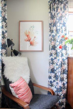 Minted Dark Floral Curtains