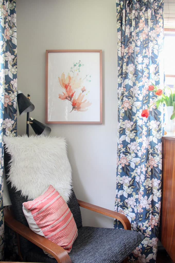 Minted Dark Floral Curtains