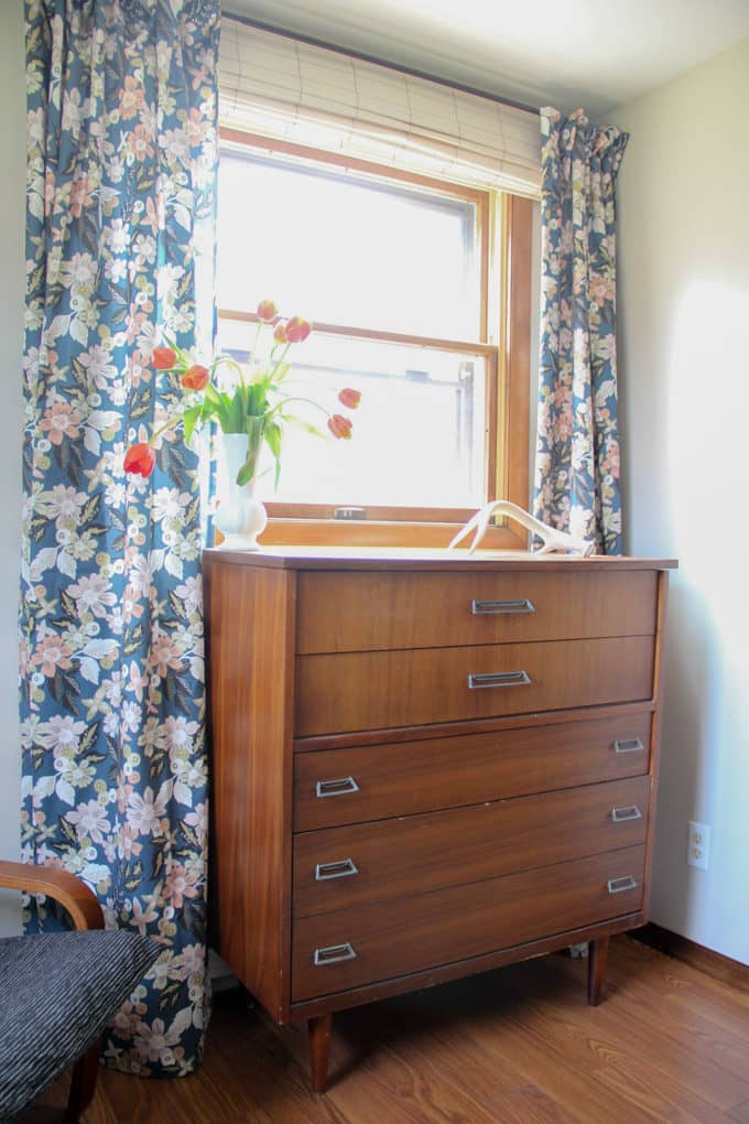 Mid Century Dresser in Master Bedroom