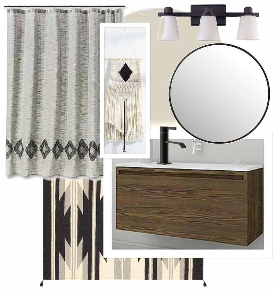 Modern Bathroom Mood Board