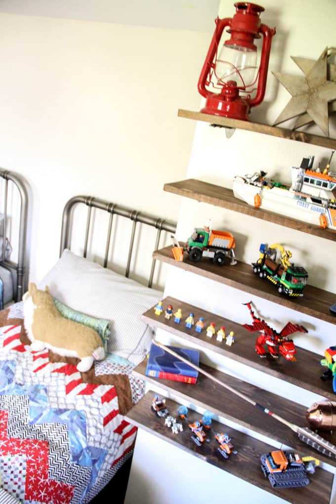 Boys Bedroom Shelves