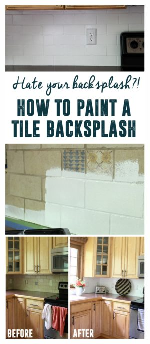 How To Paint A Tile Backsplash Bright Green Door