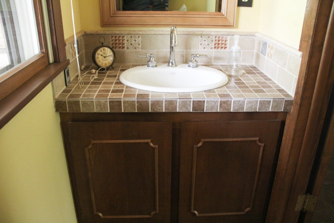 How to remodel a bathroom on a budget bright green door - How to redo a bathroom on a budget ...