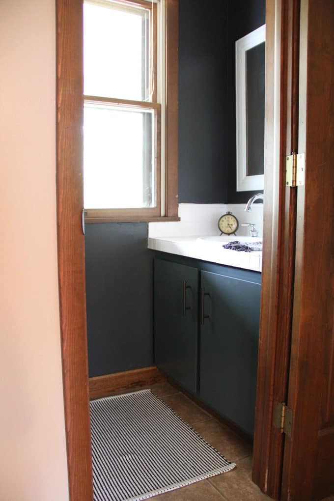 Black Powder Room Bathroom