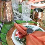Tablescape with Copper Elements
