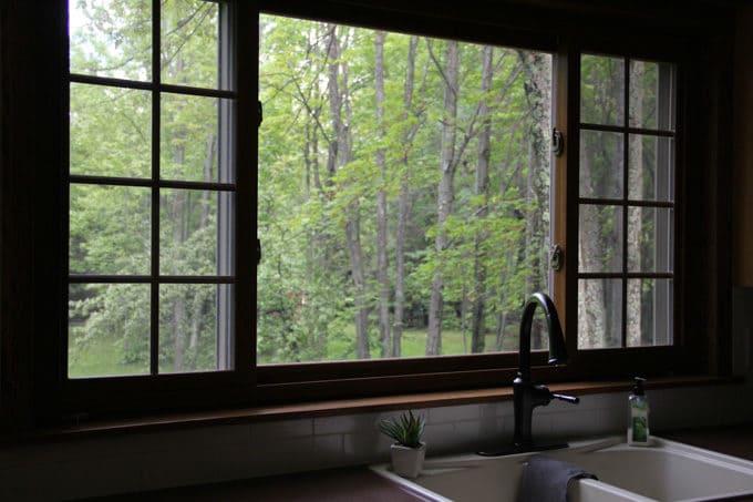 Kitchen View into Backyard
