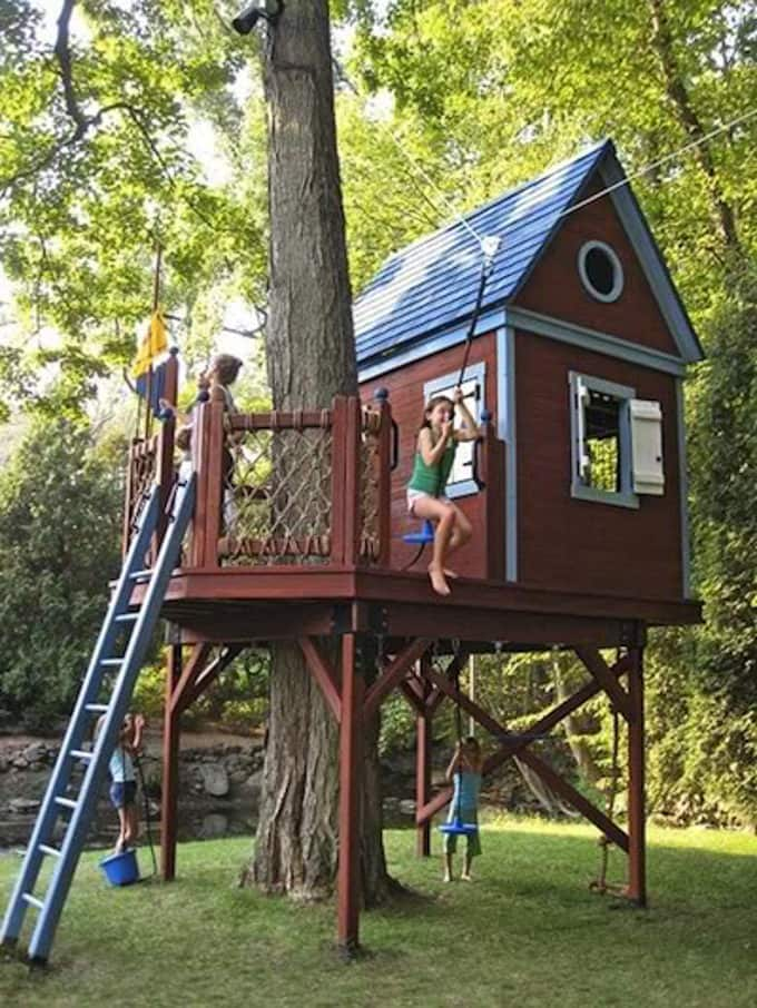 Treehouse built on Posts