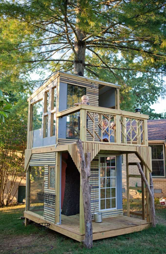 Tree House with Two Levels