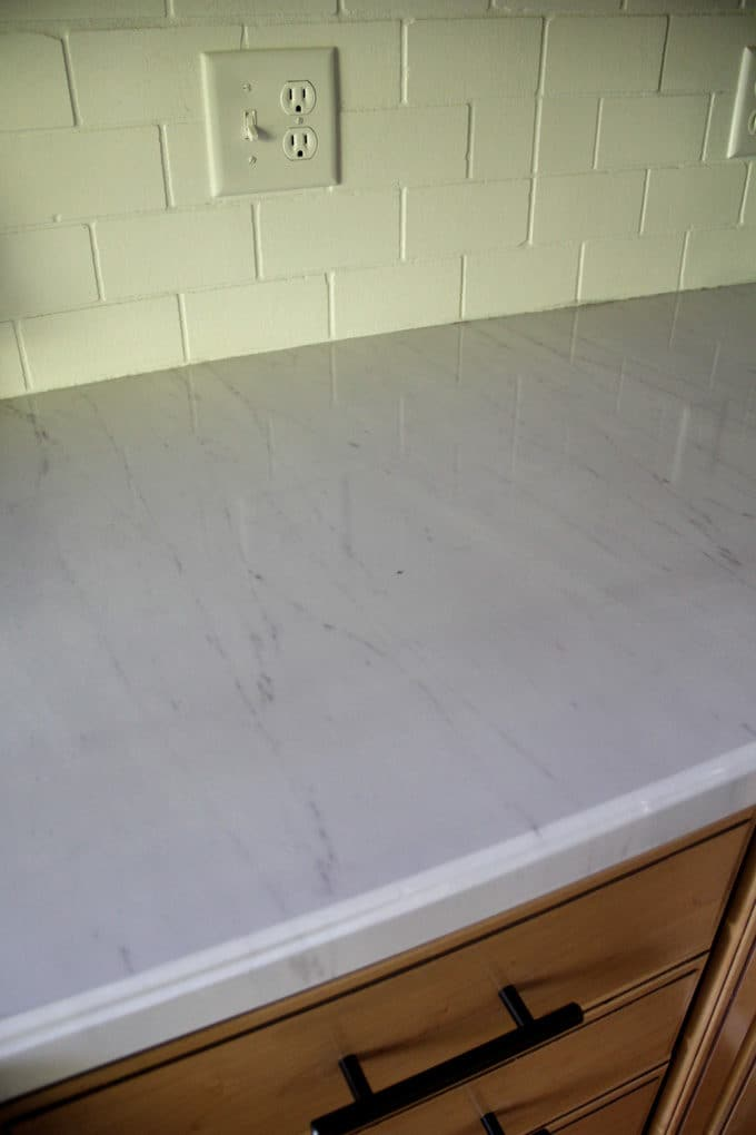 How to DIY Faux Marble Countertops