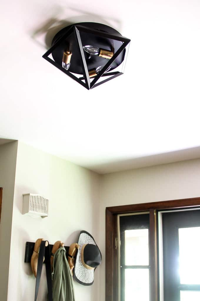 Front Entry Updates Modern Geometric Flush Mount Light