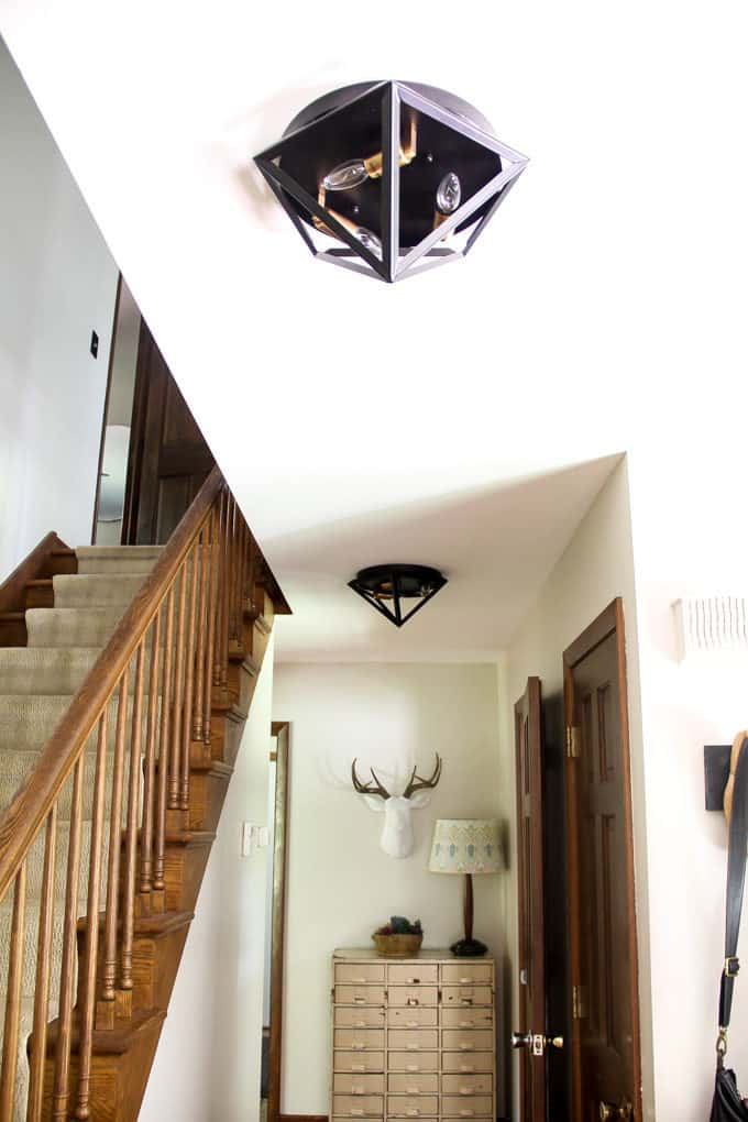 Modern Geometric Flush Mount Light