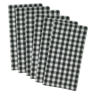 Black and White Buffalo Plaid Napkins