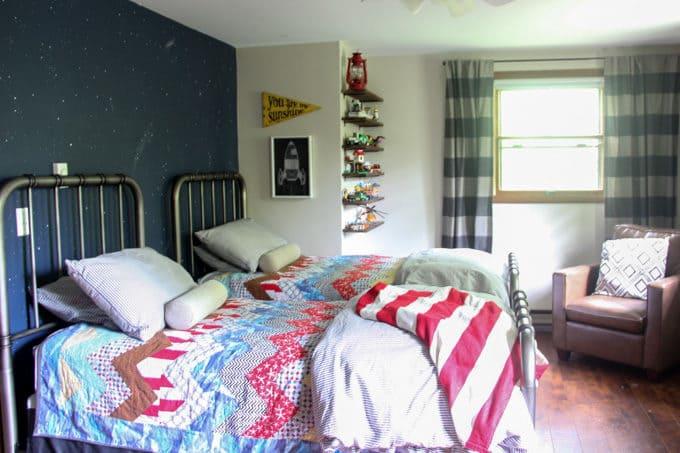 Modern Shared Boys Bedroom