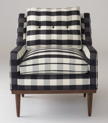 Modern Buffalo Plaid Chair