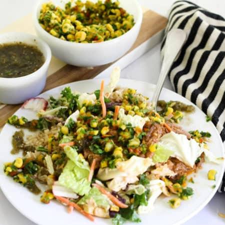 Pork Burrito Salad