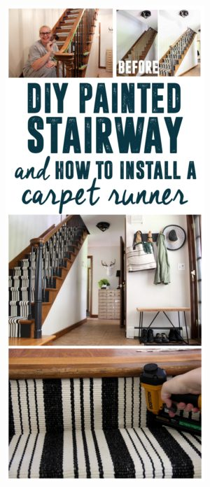 Painting Wood Stairs and Install a Rug Runner