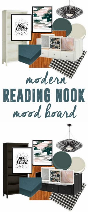 Modern Reading Nook Mood Board