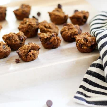 Mini Pumpkin Chocolate Chip Muffins
