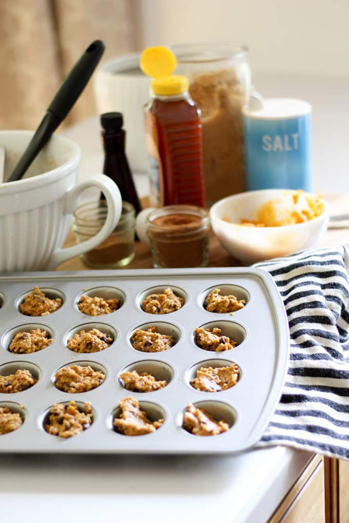 Muffins with Oatmeal and Pumpkin